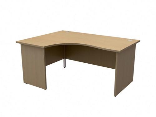 TrexusClass 1600LH Rad Desk Oak