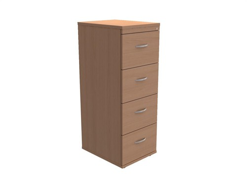 Trexus Filing Cabinet 4-Drawer W480xD600xH1320mm Beech