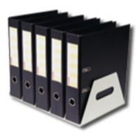 Image for Rotadex Lever Arch Filing Rack Portable Rigid Metal W425xD300xH160mm White Ref LAR5