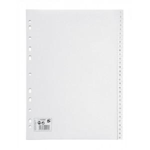 5 Star Index Multipunched 120 micron Polypropylene 1-31 A4 White