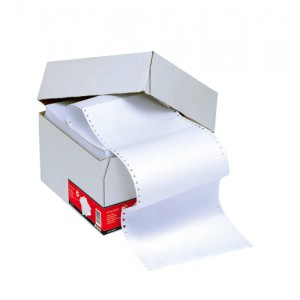 5 Star Listing Paper 1-Part Perforated 70gsm 11inchx241mm Plain [2000 Sheets]