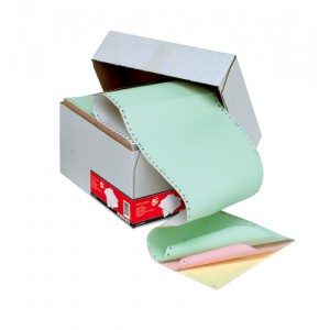 5 Star Listing Paper 4-Part NCR Perforated 56/53/53/57gsm 11inchx241mm Plain 4 Colours [500 Sheets]