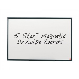 5 Star Drywipe Board Magnetic Lightweight with Fixing Kit and Pen Tray W1200xH900mm