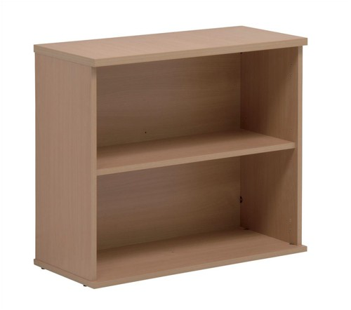 Sonix Bookcase Desk-high with Adjustable Shelf and Floor-leveller Feet W800xD330xH720mm Oak