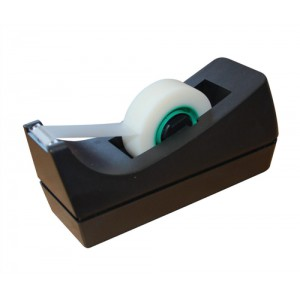 5 Star Tape Dispenser Desktop Roll Capacity 19mm Width 33m Length Black
