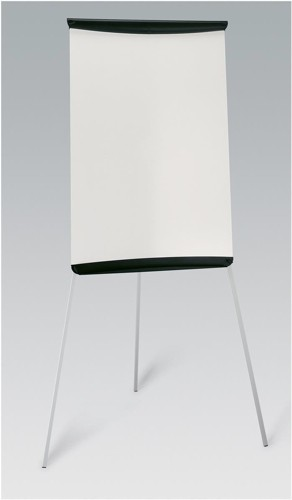 5 Star Flipchart Easel with W670xH990mm Board W700xD82xH1900mm Black Trim