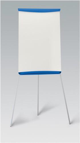 5 Star Flipchart Easel with W670xH990mm Board W700xD82xH1900mm Blue Trim