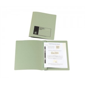 5 Star Flat File Recycled Manilla 315gsm 38mm Foolscap Green [Pack 50]