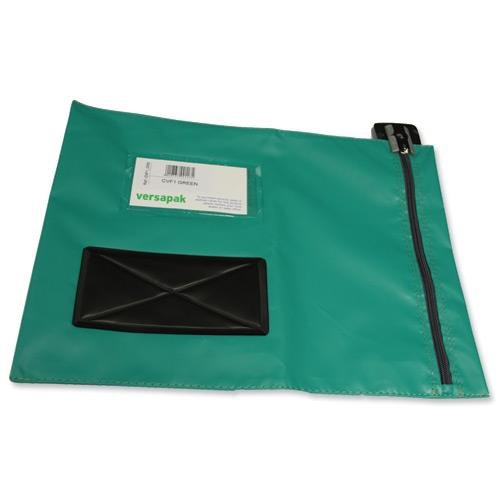 Versapak Mailing Pouch Durable PVC-coated Nylon 286x336mm Green Ref CVFIGR