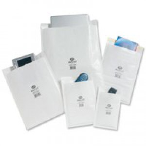 Jiffy Airkraft Postal Bags Bubble-lined Peel and Seal No.5 White 260x345mm Ref JL-AMP-5-10 [Pack 10]