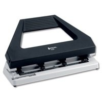 Rexel 420 Adjustable Punch Expandable with 4 Dies Capacity 30x 80gsm Black and Grey Ref 08909