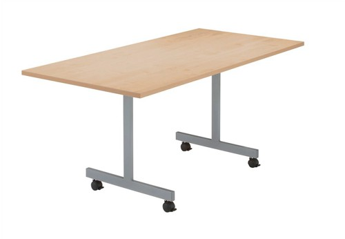 Sonix2 Basic Mobile Flip-Top Rectangular Table W1600xD800xH720mm Beech
