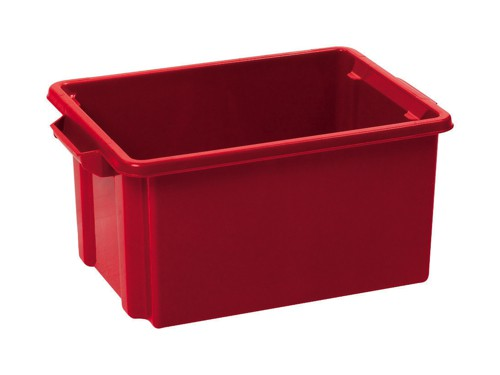 Strata Storemaster Midi Crate External W360xD270xH190mm 14.5 Litres Red Ref HW44