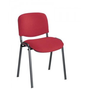 Trexus Stacking Chair Upholstered with Shaped Seat W480xD420xH500mm Burgundy
