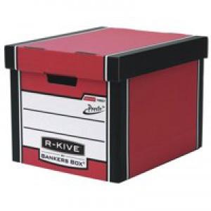 Bankers Box Prem 726 Tall StoBox Red/Wht