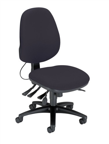 Sonix Support S3 Chair Asynchronous Lumbar-adjust High Back Slide Seat W480xD450xH460-570mm Onyx Black