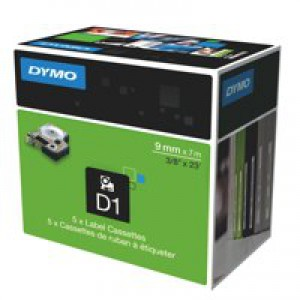 Dymo D1 Tape for Electronic Labelmakers 9mmx7m Black on Red Ref 40917 S0720720