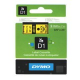 Dymo D1 Tape for Electronic Labelmakers 9mmx7m Black on Yellow Code S0720730