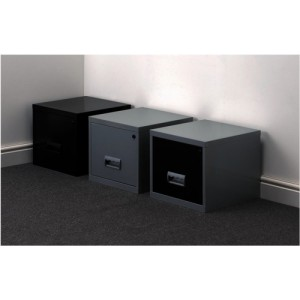 Filing Cabinet Steel Lockable 1 Drawer A4 Black