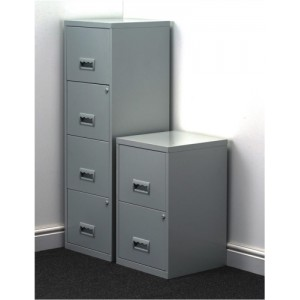 Filing Cabinet Steel Lockable 4 Drawers A4 Grey