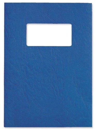 GBC Antelope Binding Covers Leather-look with Window A4 Royal Blue Ref CE041129 [Pack 50x2]