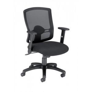 Influx Task Mesh Back Armchair Seat W500xD480xH450-550mm Black Ref 10892-02