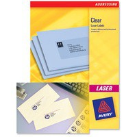 Avery Clear Addressing Labels Laser 48 per Sheet 22x12.7mm Ref L7553-25 [1200 Labels]