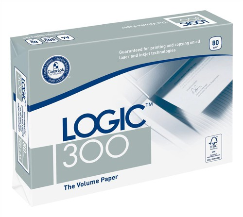 Logic 300 Copier Paper Multifunctional Ream-Wrapped 80gsm A4 Ref BP-127761H [5x 500 Sheets]