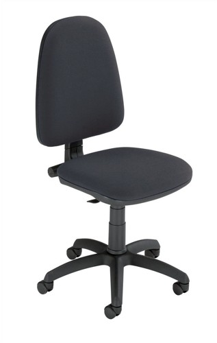 Trexus Office Operator Chair Permanent Contact High Back H500mm W460xD430xH460-580mm Black