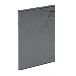 DVD Case Slimline Polypropylene for 1 Disk Black [Pack 5]