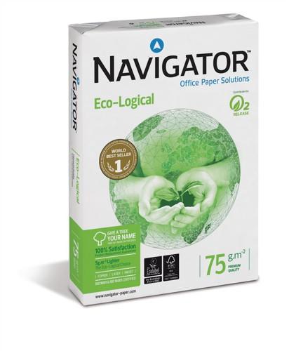 Navigator Eco-logical Paper FSC Ream-Wrapped 75gsm A4 Bright White Ref NEC0750012 [5 x 500 Sheets]