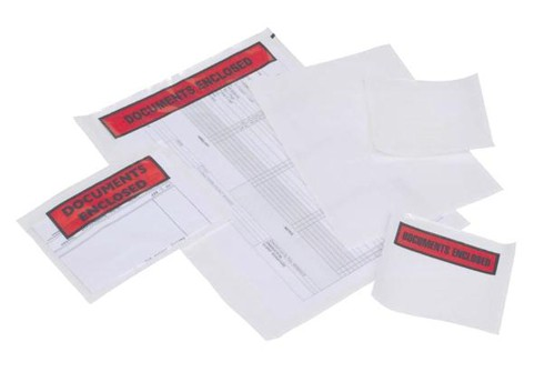Packing-list Envelopes Polythene-front A4/C4 Documents Enclosed 318x235mm Ref 50PTDE004 [Pack 500]