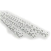 GBC Binding Wire Elements 21 Loop 70 Sheets 8mm for A4 Silver Ref IB160639 [Pack 100]