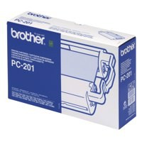 Brother Fax Cartridge and 1 Thermal Ribbon For Fax 1030 Ref PC201