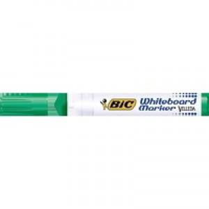 Bic Velleda 1701 Whiteboard Marker Bullet Tip Line Width 1.5mm Green Ref 1199170102 [Pack 12]