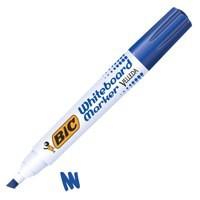 Bic Velleda 1751 Whiteboard Marker Chisel Tip Line Width 3.7-5.5mm Blue Ref 1199175106 [Pack 12]