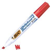 Bic Velleda 1751 Whiteboard Marker Chisel Tip Line Width 3.7-5.5mm Red Ref 1199175103 [Pack 12]