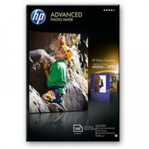 Hewlett Packard Advanced Glossy Photo Paper 250gsm 10x15cm Borderless Pack of 100 Q8692A