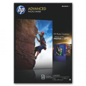 Hewlett Packard Advanced Glossy Photo Paper 250gsm A4 Pack of 25 Q5456A