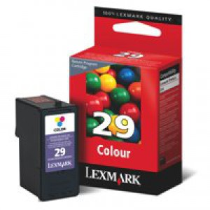 Lexmark No. 29 Inkjet Cartridge Page Life 150pp Colour Ref 18C1429E