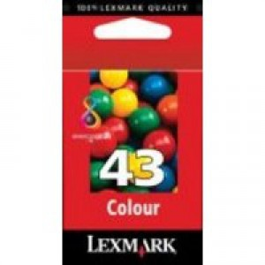 Lexmark No.43 Inkjet Print Cartridge Colour Code 18YX143E