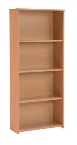 Trexus Basics Budget Bookcase Tall W740xD340xH1770mm Beech