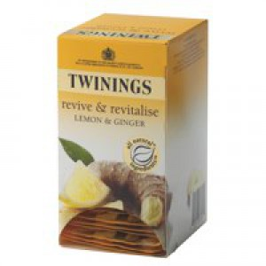 Twinings Infusion Tea Bags Individually Wrapped Lemon and Ginger Pack 20 Code A01202