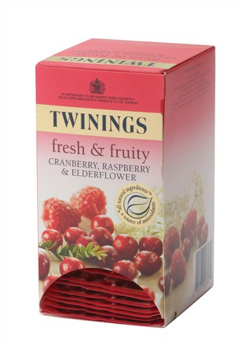 Twinings Infusion Tea Bags Individually-wrapped Cranberry and Raspberry Ref A01865 [Pack 20]