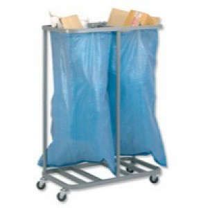 GoSecure Dble Sack Holder Silver SH2SIL