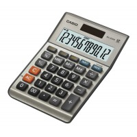 Image for Casio Calculator Euro Desktop Battery/Solar-power 12 Digit 3 Key Memory 103x137x31mm Ref MS-120BM