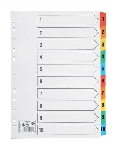 5 Star Premier A4 1-10 Index M/Col Mylar