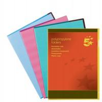 Image for 5 Star Folder Cut Flush Polypropylene Copy-safe Translucent A4 Blue [Pack 25]