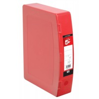 Image for 5 Star Box File Polypropylene with Twin Clip Lock Foolscap Red