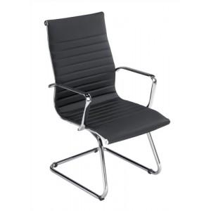 Influx Breeze Visitors Armchair Back H400mm Seat W490xD430xH500mm Black Ref F7A